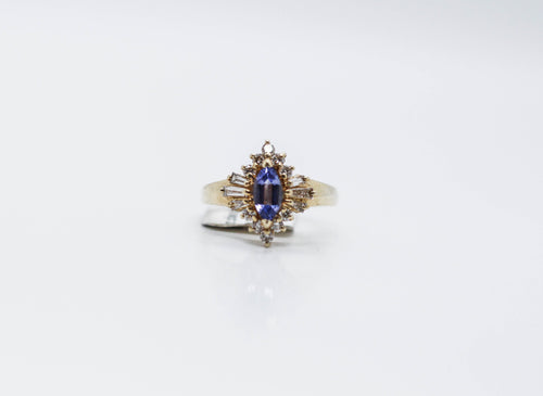 Tanzanite Diamond Yellow Gold Ring