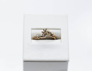 Yellow Gold Mount Ring