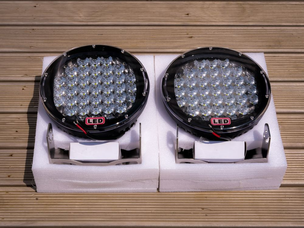 185w 9'' CREE LED Spot Light Black x2 with wiring harness!!!