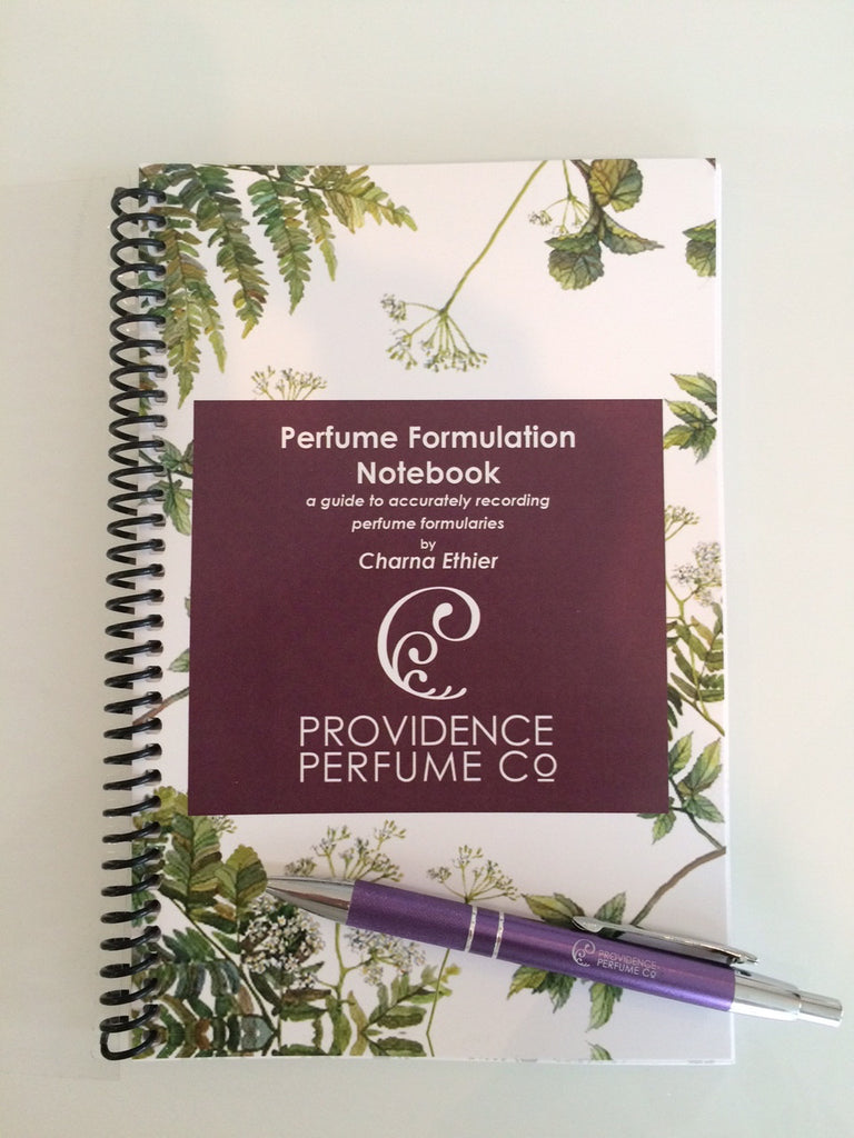 Perfume Formulary Notebook - A Guide To Accurately Recording Perfume Formularies - Providence Perfume Co.  - 1
