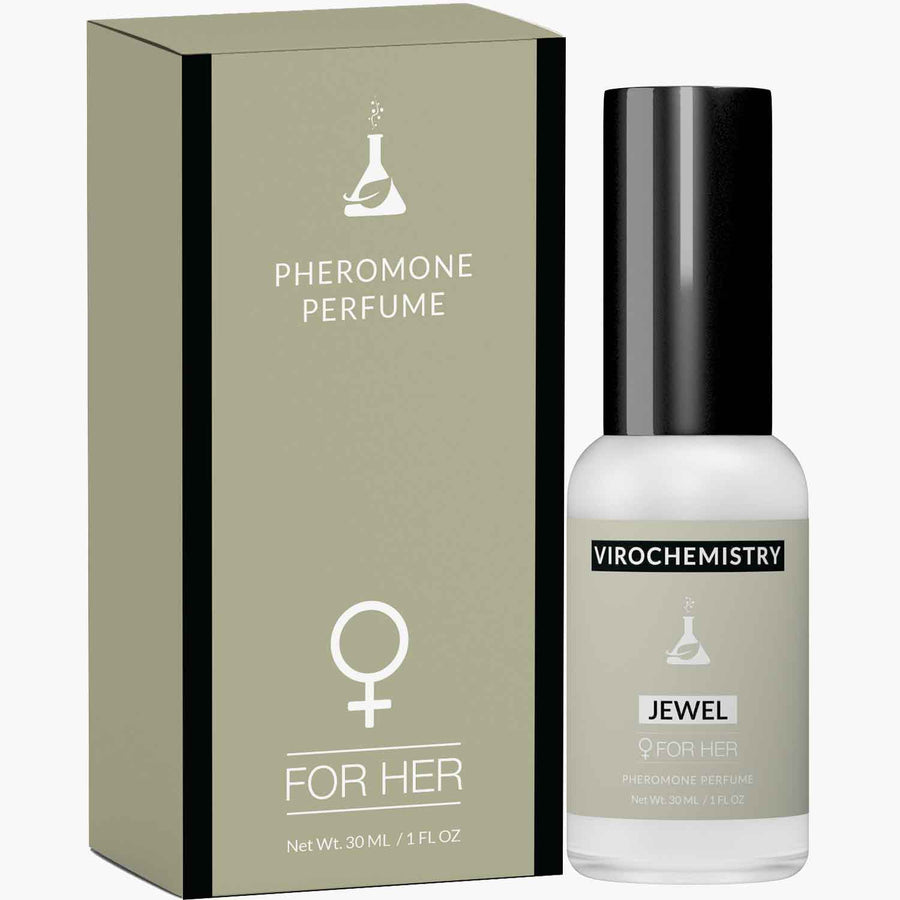 Pheromones to Attract Men for Women (Jewel) - Elegant, Ultra Strength Organic Fragrance Body Perfume (1 Fl. Oz)(Human Grade Pheromones to Attract Men)