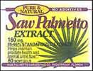 Saw Palmetto 160 mg standardized softgels (bottle of 180)