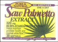 Saw Palmetto 320 mg standardized softgels (bottle of 30)