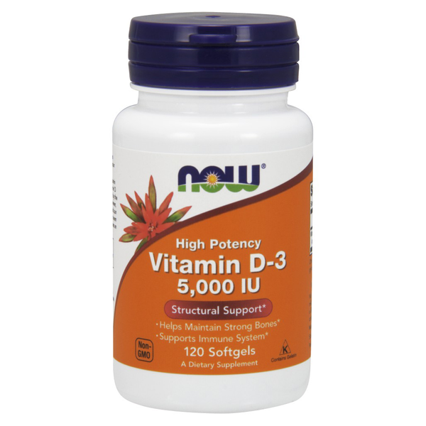 Vitamin D-3 5000 IU (120 Softgels)