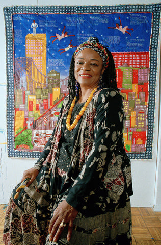 Faith Ringgold and her narrative quilt