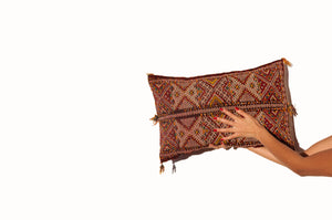 artisanal moroccan handmade crafted berber cushion cover