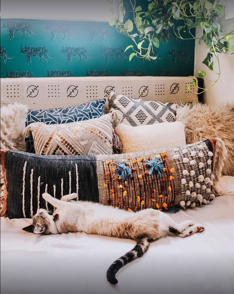 handmade artisanal patterned pillows