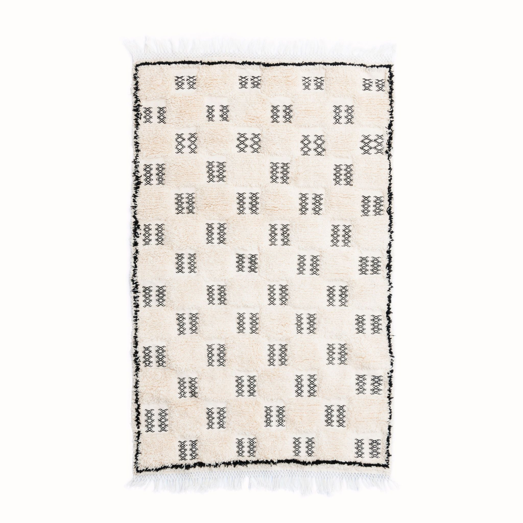 Chequered Marmoucha Rug