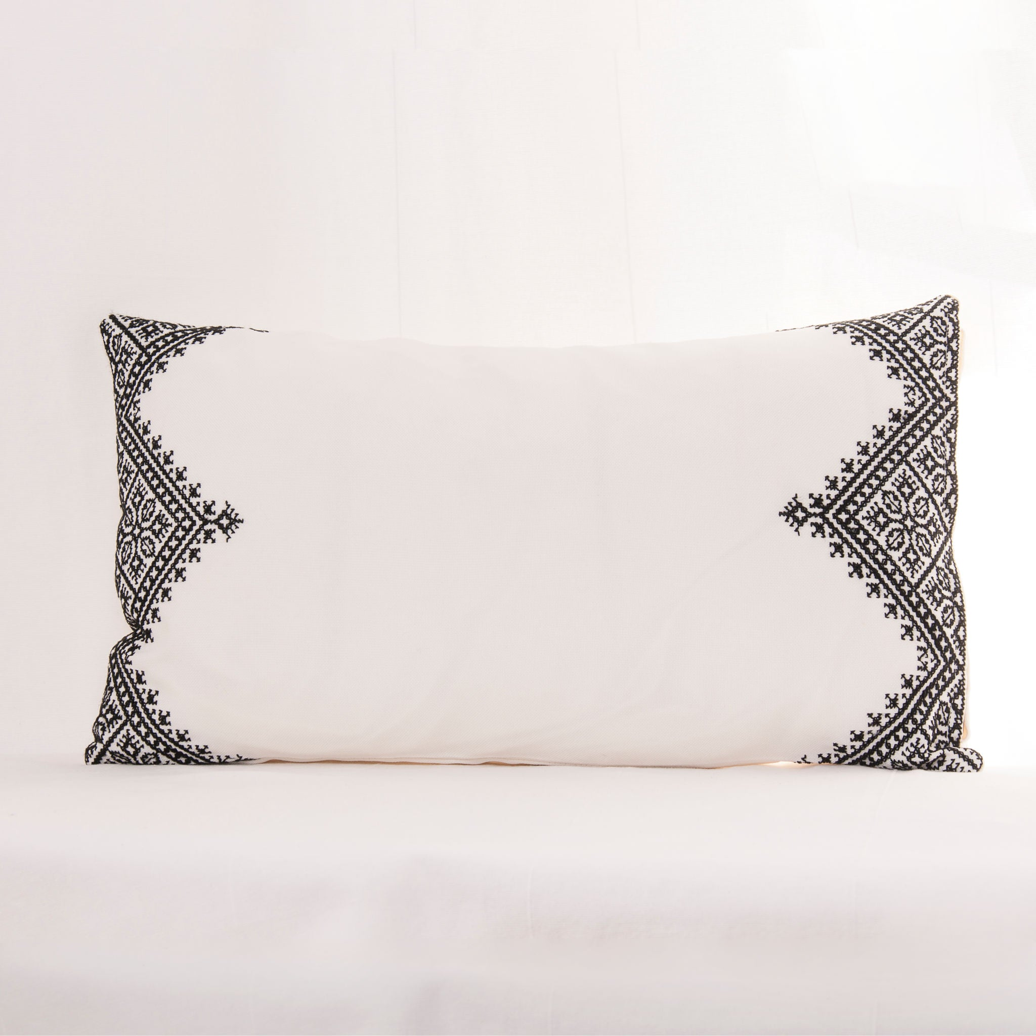Fes-Embroidered Bordered Cushion Cover