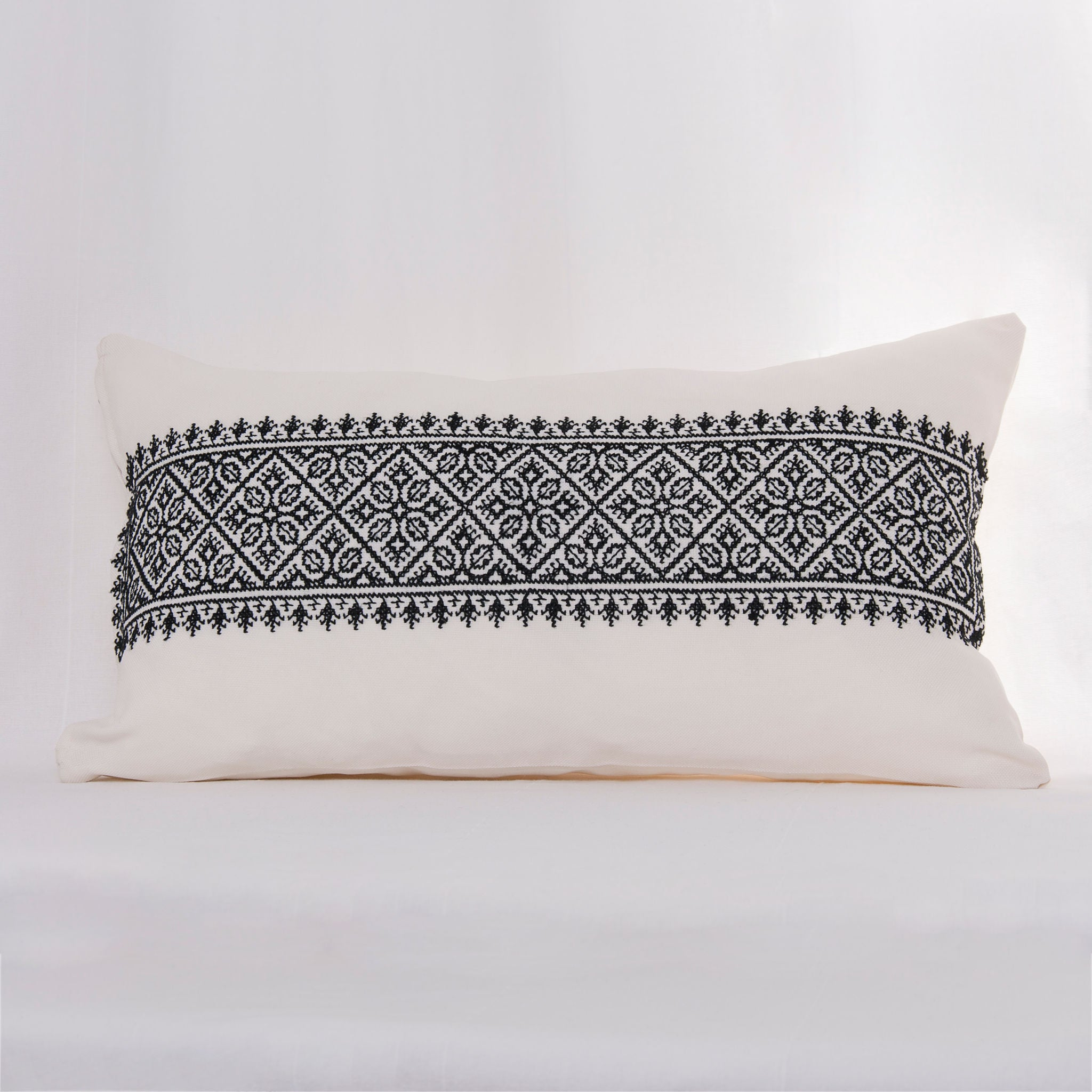 Fes-Embroidered Rectangular Cushion Cover