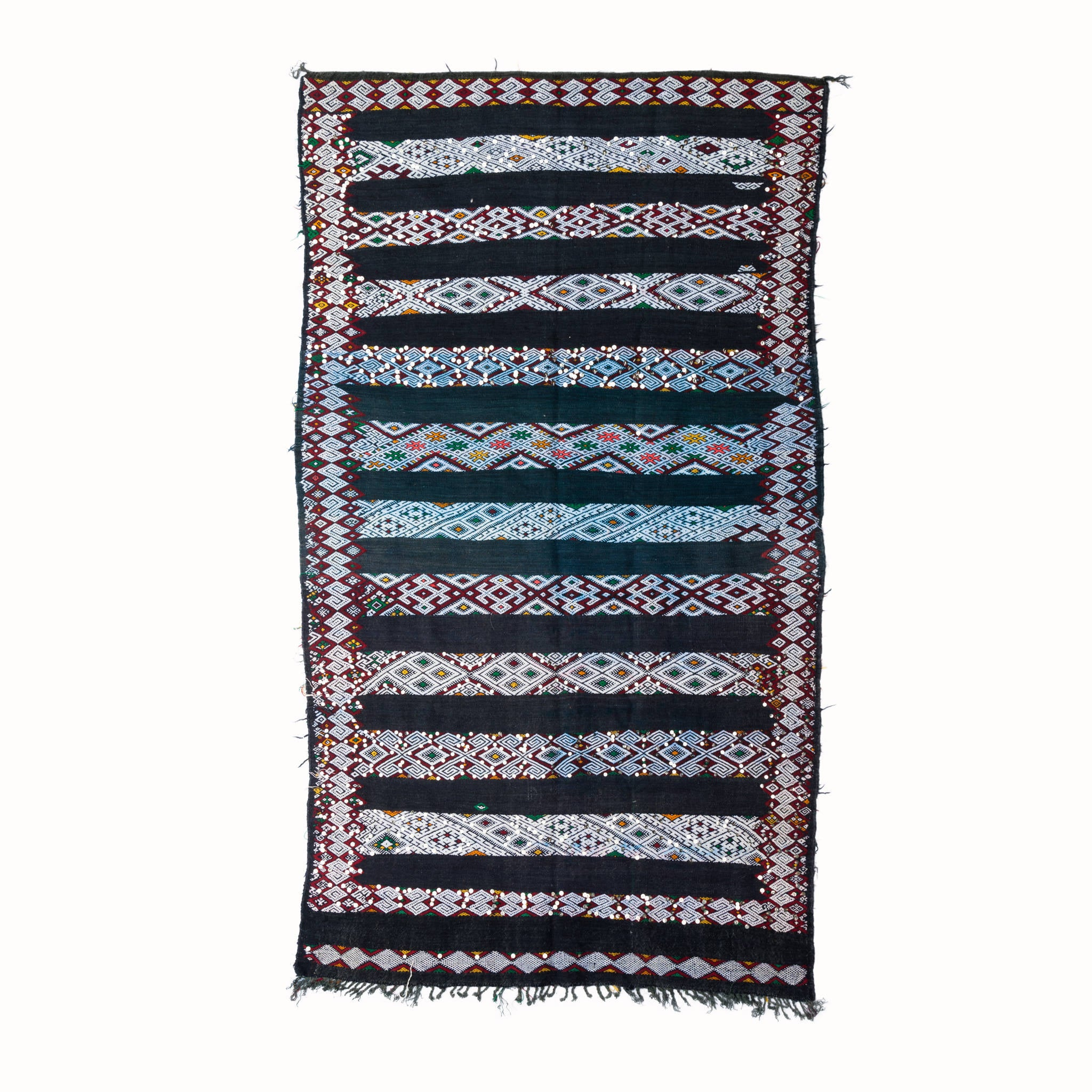 Berber Patterned Vintage Blue Rug