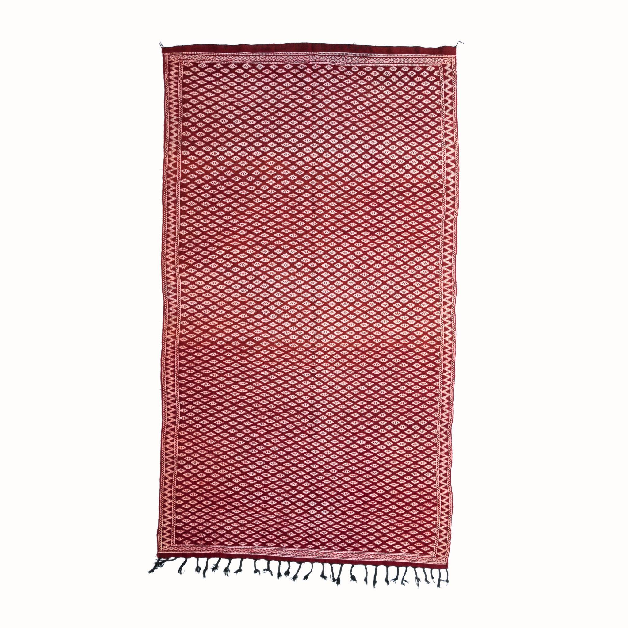 Exquisite Wine Red Kilim Rug