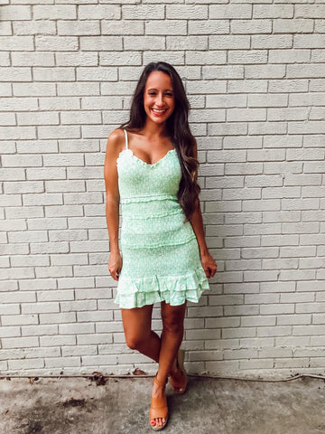 Mint Smocked Dress