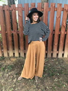 Caramel Wide Leg Pants