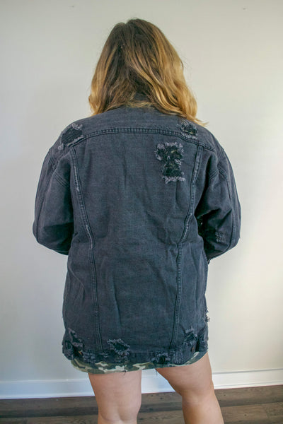 Edgy Black Denim Jacket