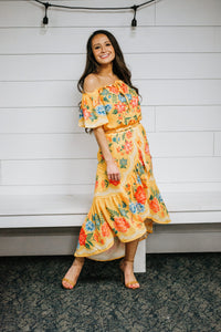 Spanish Yellow Floral 2 Piece-Top