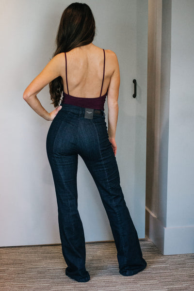 V-neck Bodysuit- Plum