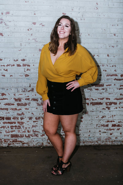 Mustard Cropped Blouse