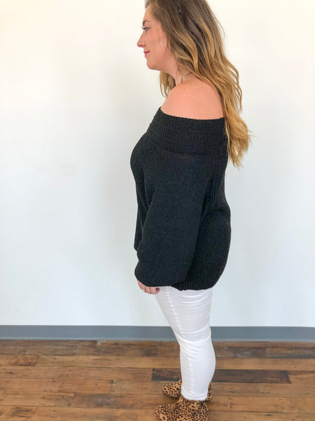 OTS Extra Long Sweater-BLACK