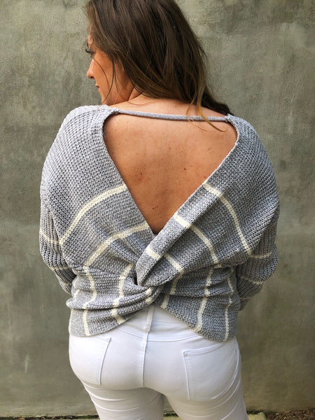 Stripe and Twist Sweater