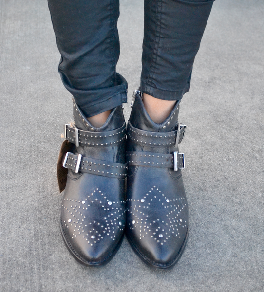 Edgy Black Booties