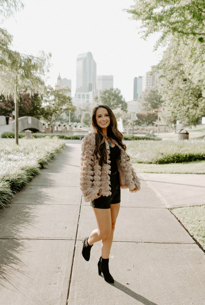 Mocha Layered Faux Fur Jacket