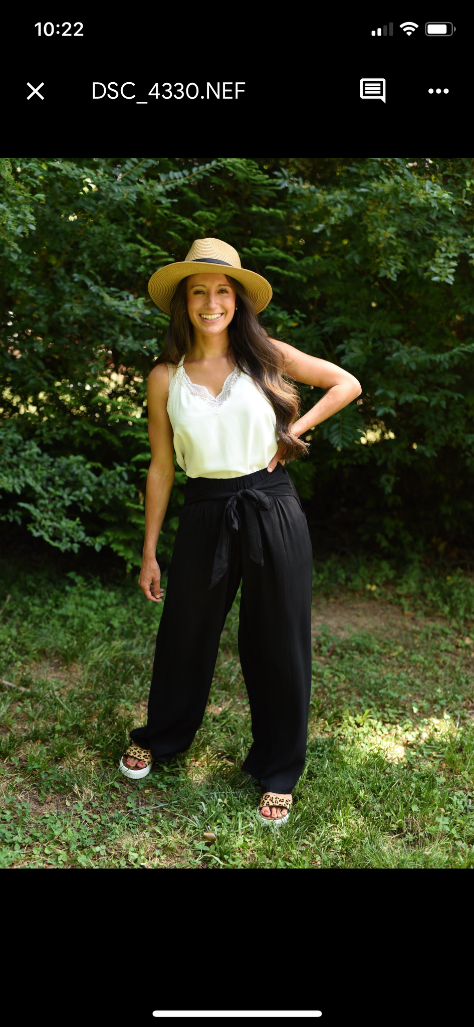 Black Flowy Beach Pants