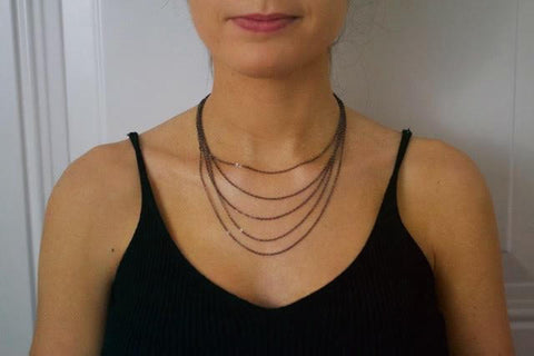 Gunmetal Layered Necklace