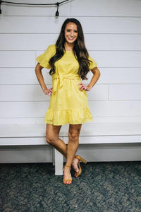 The Sunday Brunch Dress- Yellow