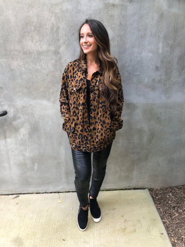 Cheetah Corduroy Jacket