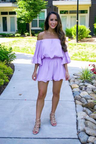 Every Girl's Dream Romper- Lavender