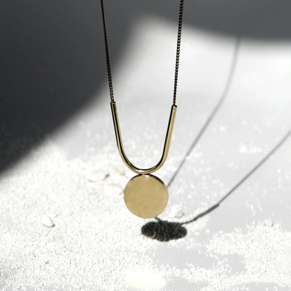 U + Disc Necklace J16