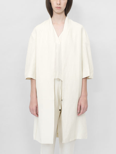 Structured Linen Long Coat- SS16 ( Color options )