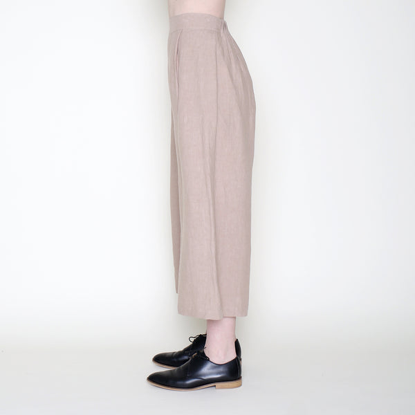 Cropped Wide-Legged Spring Trouser - Clay - SS18