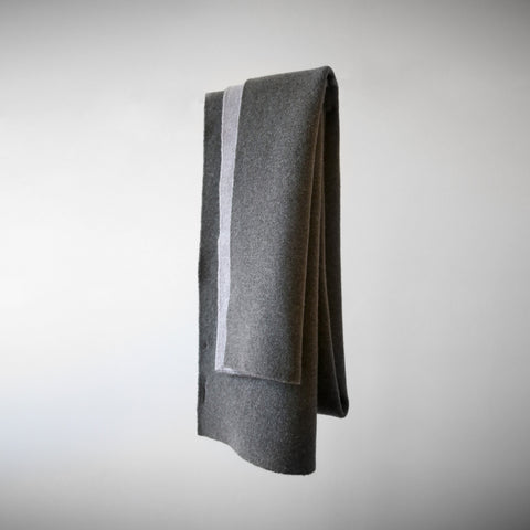 Double Side Long Scarf - FW19 - Gray/Taupe