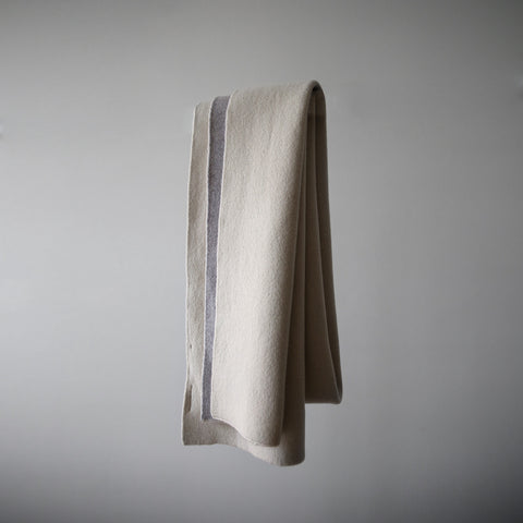 Double Side Long Scarf - FW19 - Cream/Taupe