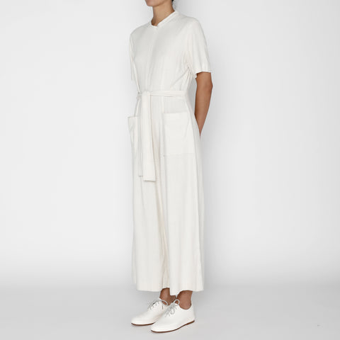 Raw Silk Mandarin Jumpsuit - FW19 - Cream