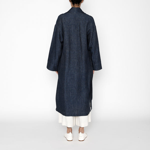 Karate Long Coat - FW19 - Indigo