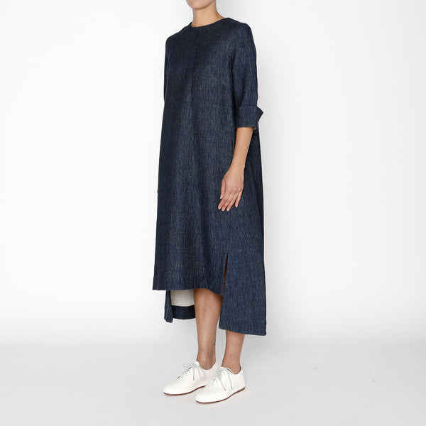 Square Hem Dress - FW19 - Indigo