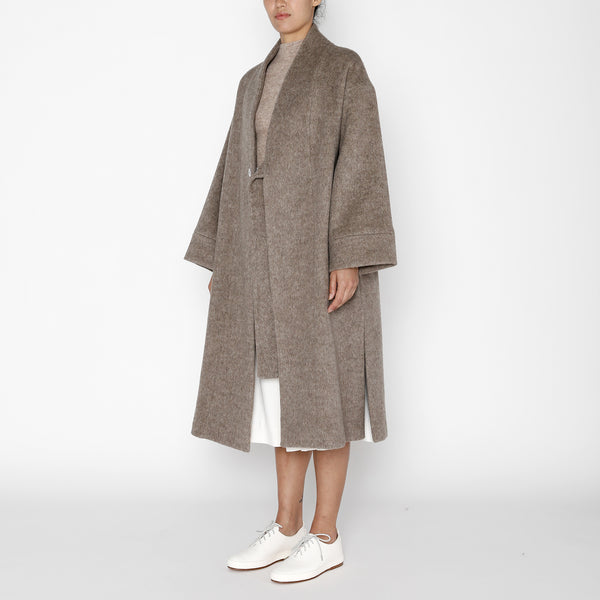 Karate Long Wool Coat - FW19 - Heathered Taupe