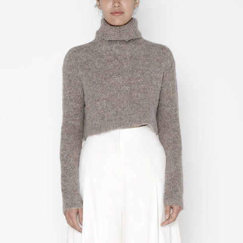Classic Turtleneck Cropped Sweater - FW19 - Walnut