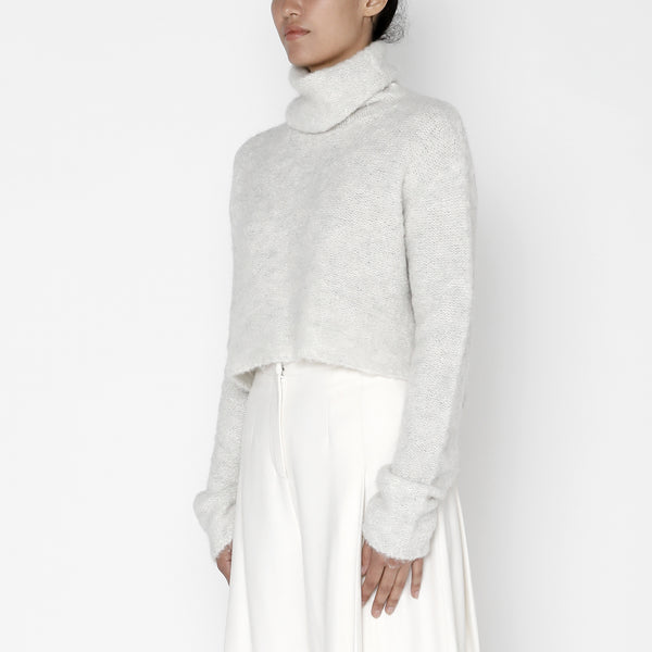 Classic Turtleneck Cropped Sweater - FW19 - Dove