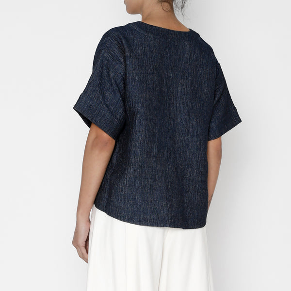 Boat Neck Top - FW19 - Indigo