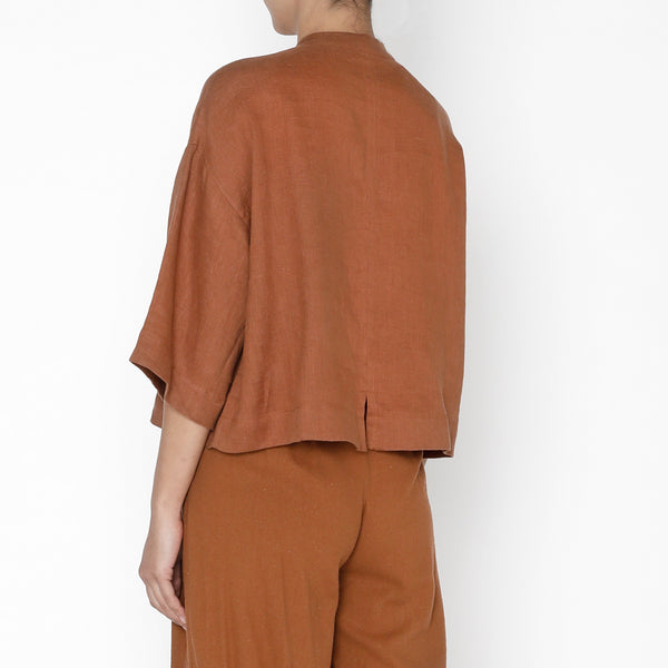 3/4 Mandarin Top - FW19 - Rust