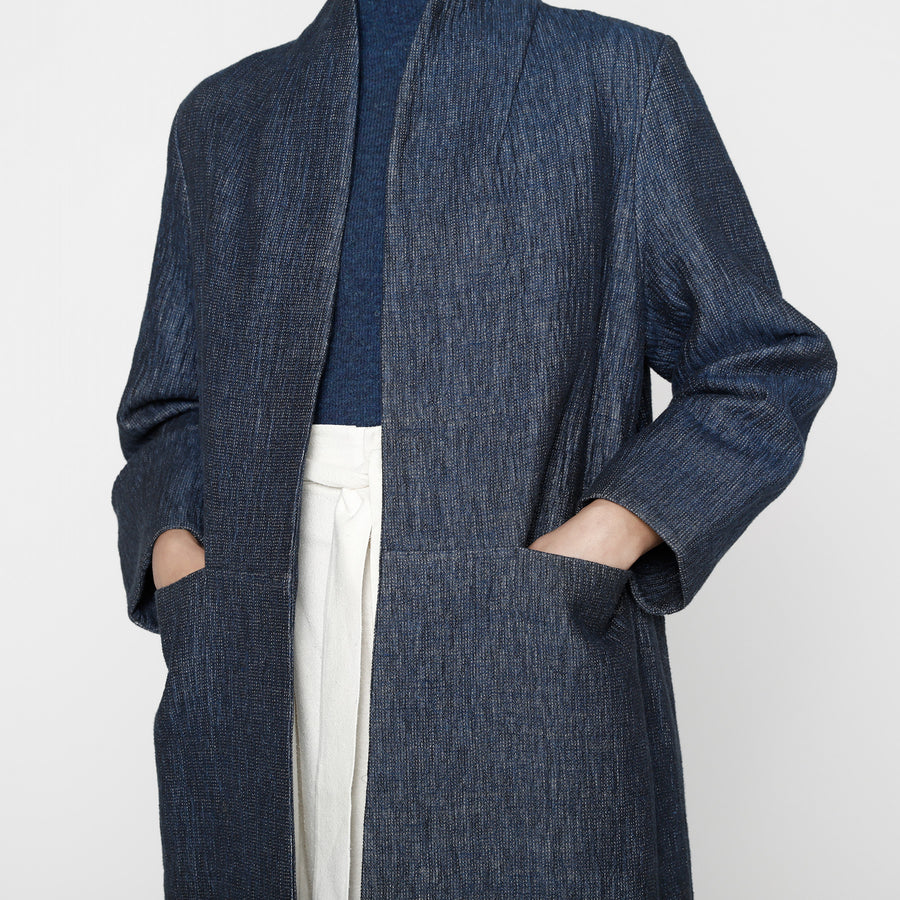 Open Fall Coat - FW19 - Indigo