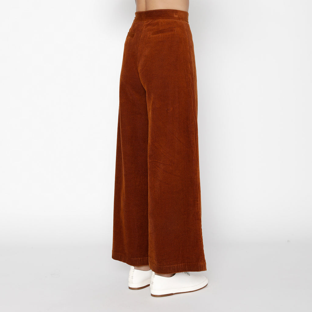 Corduroy Wide-Legged Trouser - FW19 - Rust