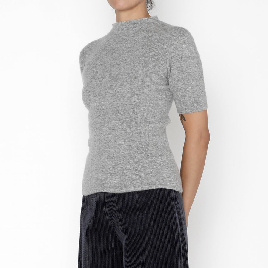 Mockneck Fitted Knit Tee - FW19 - Husky