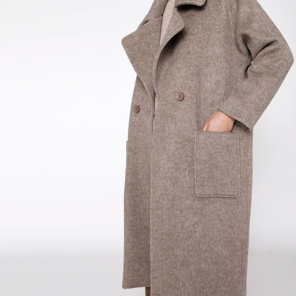 Classic Long Wool Coat - FW20 - Heathered Taupe