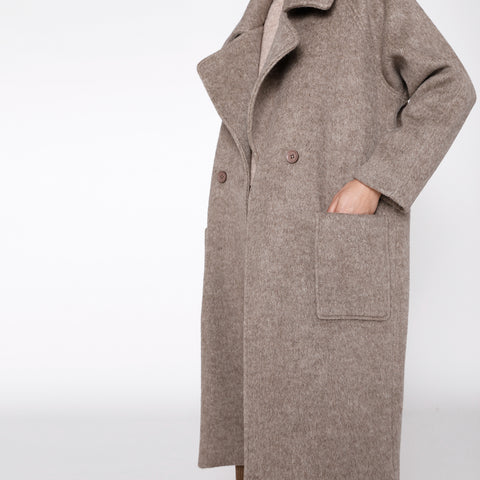 Classic Long Wool Coat - FW19 - Heathered Taupe