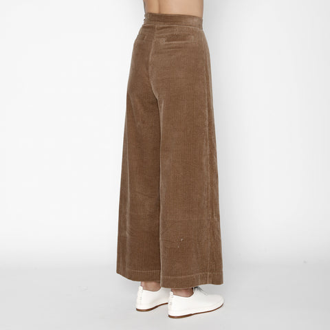 Corduroy Wide-Legged Trouser - FW19 - Tobacco
